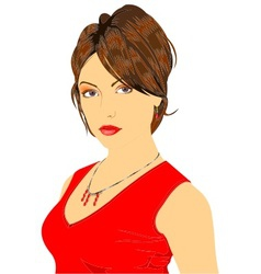 lady in red vector image vector image