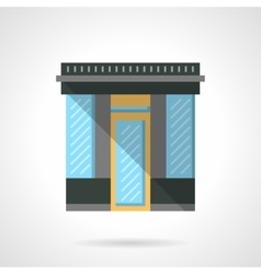 Market storefront flat color design icon vector image