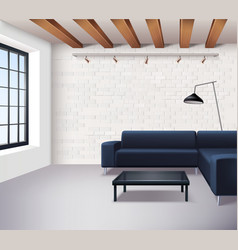 Realistic Loft Interior Concept vector image vector image