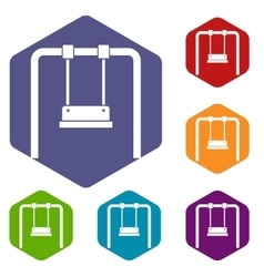 Swing icons set vector image vector image