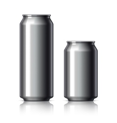 Black shiny aluminum cans vector image