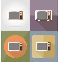 cinema flat icons 13 vector image vector image