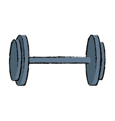 dumbbell weight gym equipment image vector image