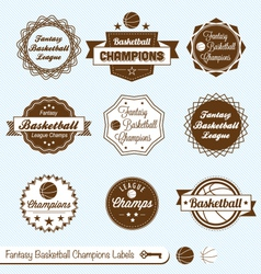 Fantasy Basketball Labels vector image vector image