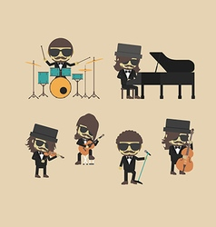 168classical band vector image