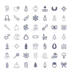 49 christmas icons vector