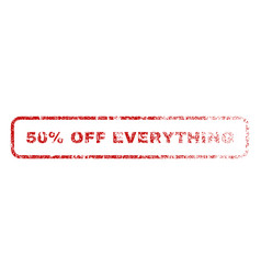 50 percent off everything rubber stamp vector