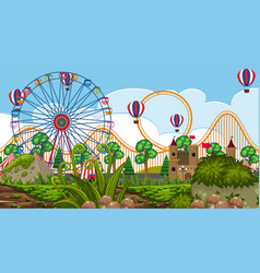 a abandon funfair vector image