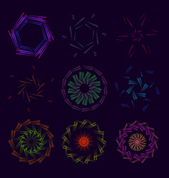 a collection of fractal ornaments using vector image