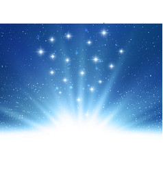 abstract shiny magic blue light background vector image