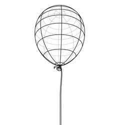 air balloon outline vector image
