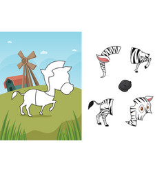 animal puzzle vector image
