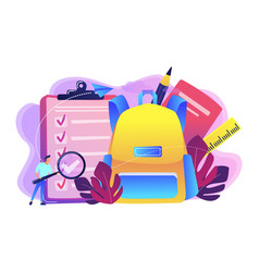 back to school list concept vector image