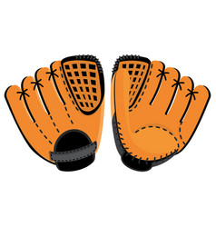 Baseball glove two side vector