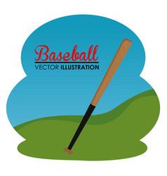 baseball sport bat icon vector image