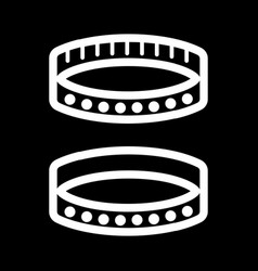 Bdsm collar simple icon black and white vector
