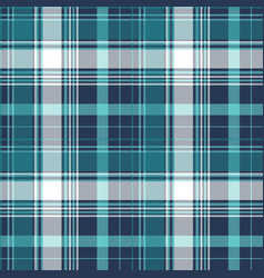 Blue pixel check tartan seamless fabric texture vector