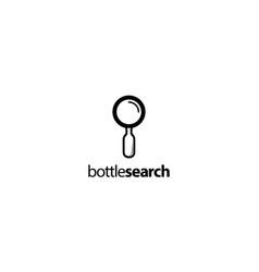bottle search logo design concept vector image