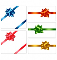 bows and ribbons vector image