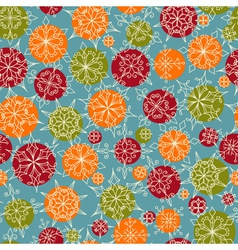 bright seamless christmas and new year pattern vector image