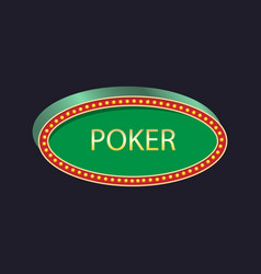 Casino party pointer poker vector