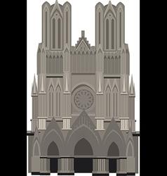 Cathedral notre dame paris vector