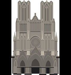 Cathedral of Notre Dame Paris vector image