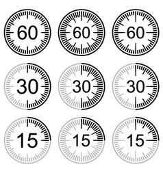 Clock face stopwatch black symbol vector