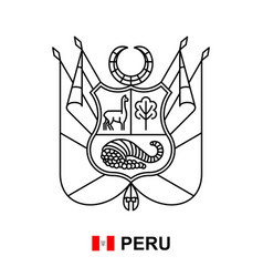 coat arms peru vector image