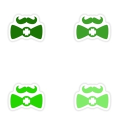 Concept paper sticker on white background mustache vector