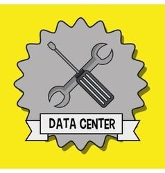 Data center wrench spanner vector