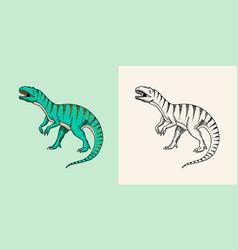 Dinosaurs tyrannosaurus rex afrovenator vector