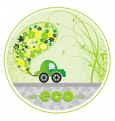 eco car illustration vector image vector image