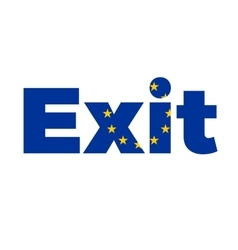 Exit from European Union on Referendum vector