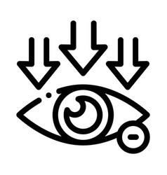 Eye and arrows eyesight icon outline vector