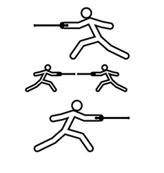 fencer stick icon black color flat style simple vector image