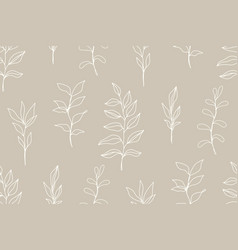 floral vintage seamless pattern with foliage vector image