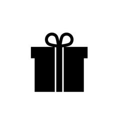 gift box present package icon signs and symbols vector image
