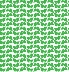 green leaf pattern vector image