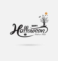 halloween banner calligraphyhalloween trick or vector image