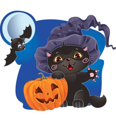 Halloween cat design vector