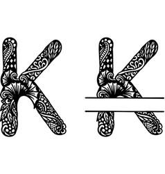 Hand drawn letter k vector