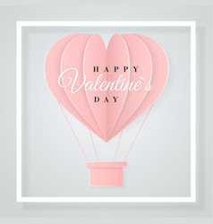 happy valentines day retro invitation card vector image