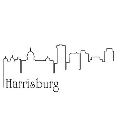 harrisburg city one line drawing vector image