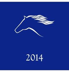 Horse symbol vector image