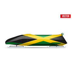 Jamaica bob for bobsleigh vector