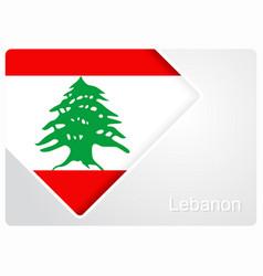 Lebanese flag design background vector