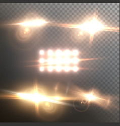 lens flare set realistic flare glow effect vector image
