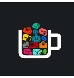 letter a cup vector image