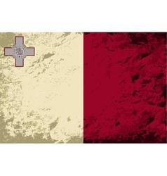 Maltese flag Grunge background vector image